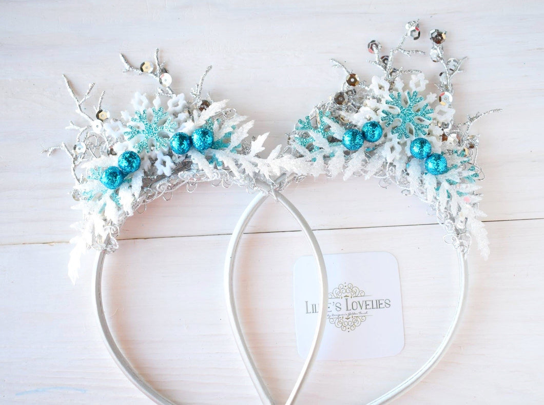 ~*Frozen Inspired*~ Holiday Snowflake Crown for Girls & Dolls