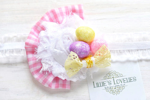 ~*Egg Hunt*~ Pink Easter Headband or Clip