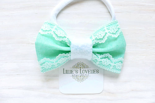 ~*Mint Tea*~ Nylon Headband or Clip