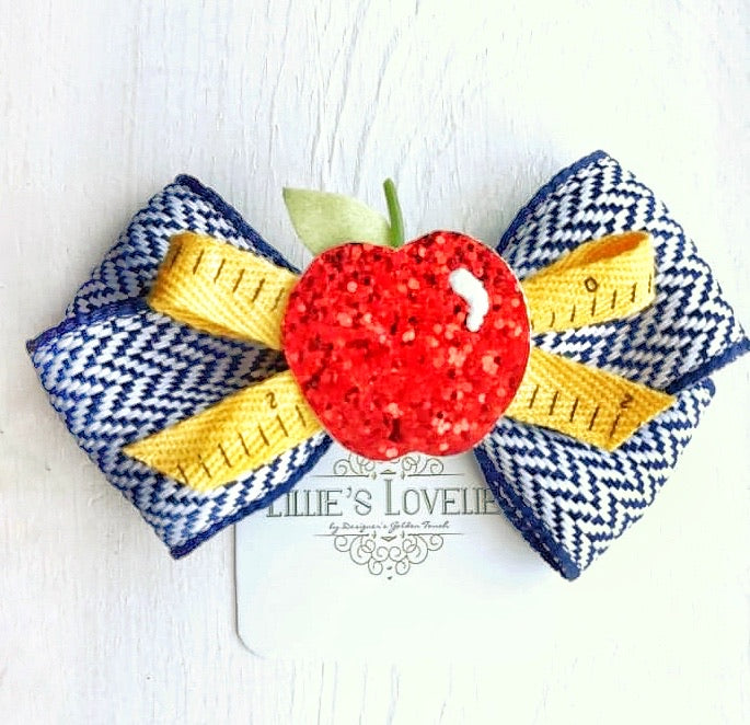 ~*Lil' Smartie*~ Navy Blue Bow Headband or Clip