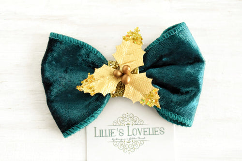 ~*Josie*~ Evergreen Velvety Headband or Clip