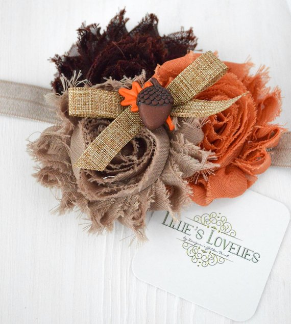 ~*Harvest Blessings~ Acorn Headband or Clip