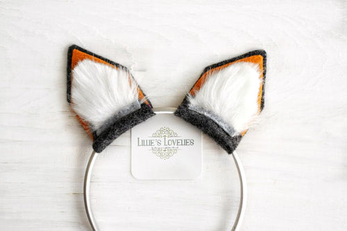 Fox Ear Headband or Clip Set~ Animal Ears
