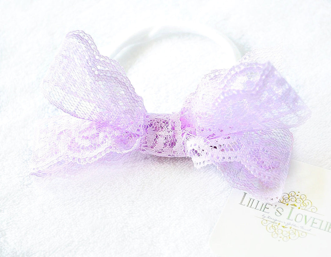 ~*Lilac Love*~ Lace Headband or Clip