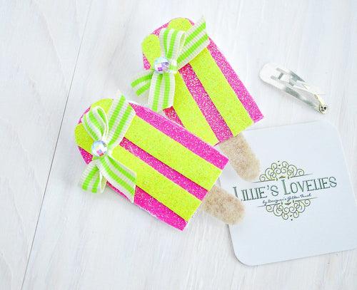 ~*Summer Sweets~ Popsicle Party Pigtails Set or Headband