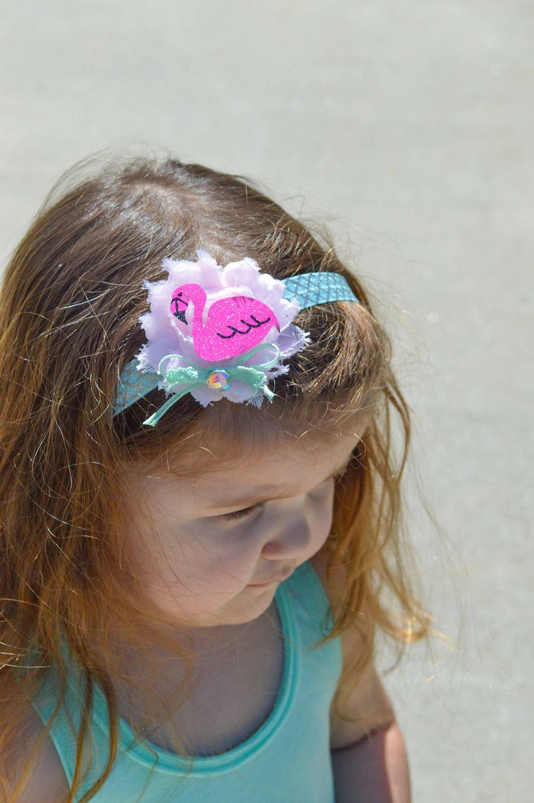 ~*Flamingo Fun*~ Flamingo Birthday Party Headband or Clip