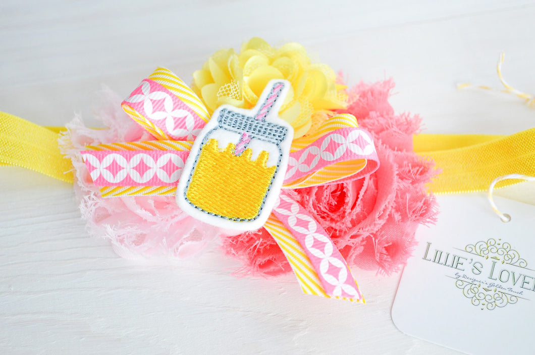 ~*Sweet Summertime*~ Pink Lemonade Headband or Clip