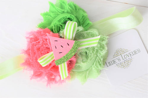 ~*Summertime Sugar*~ Watermelon Headband or Clip
