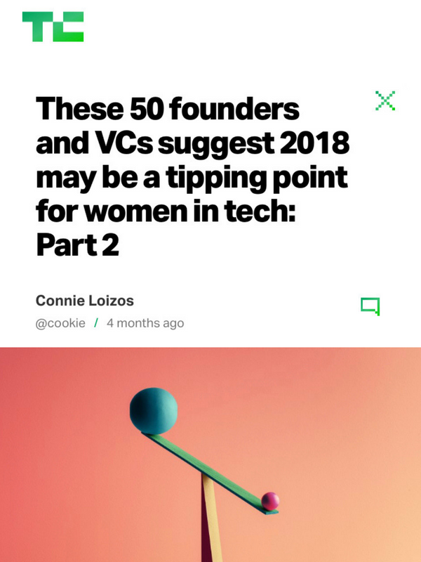 These 50 founders and VCs suggest 2018 may be a tipping point for women in tech: Part 2