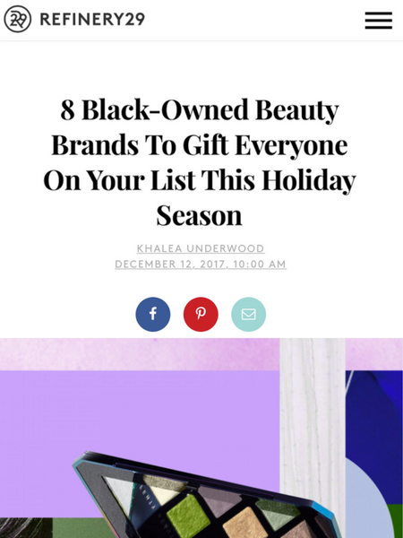8 Black-Owned Beauty Brands To Gift Everyone On Your List This Holiday Season