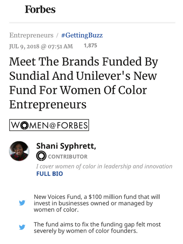 Meet The Brands Funded By Sundial And Unilever's New Fund For Women of Color Entrepreneurs
