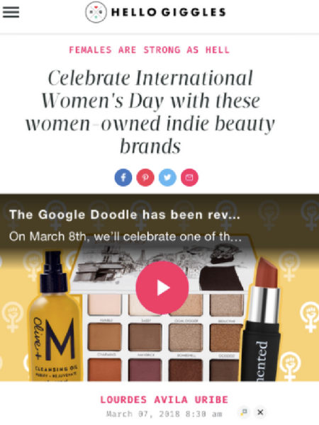 Celebrate International Women's Day with these women-owned indie beauty brands