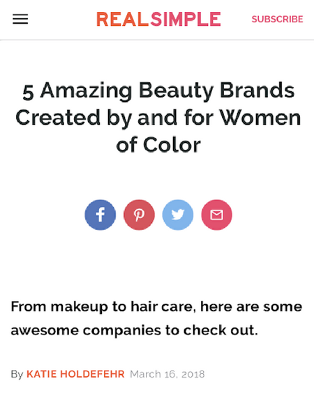 5 Amazing Beauty Brands Created by and for Women of Color