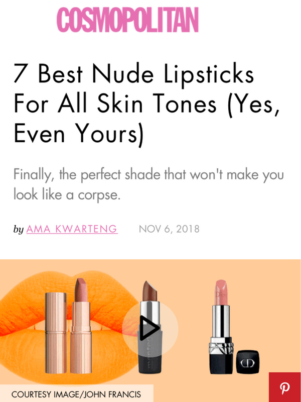 7 Best Nude Lipsticks For All Skin Tones (Yes, Even Yours)