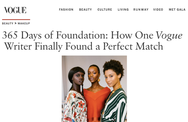 365 Days of Foundation: How One Vogue Writer Finally Found a Perfect Match