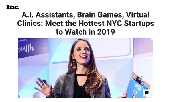 A.I. Assistants, Brain Games, Virtual Clinics: Meet the Hottest NYC Startups to Watch in 2019
