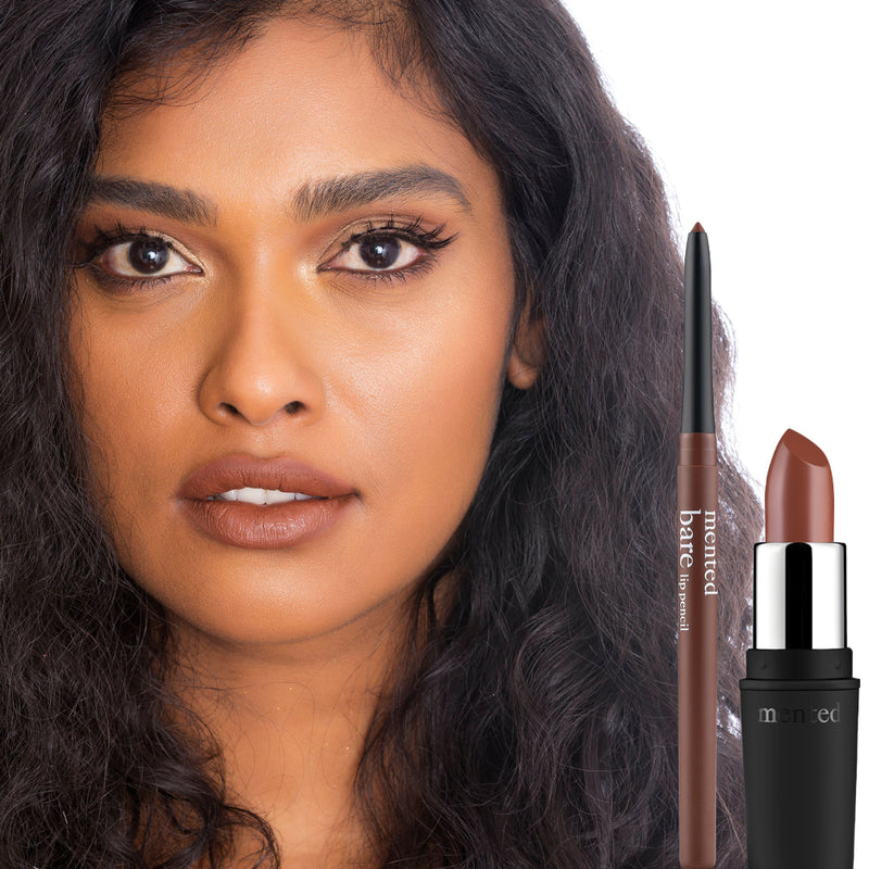 Brown Bare Matte Lipstick Duo
