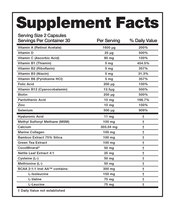 bloom hair supplement facts