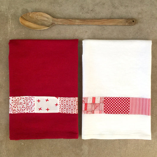 Set of Patchwork Tea Towels (2)