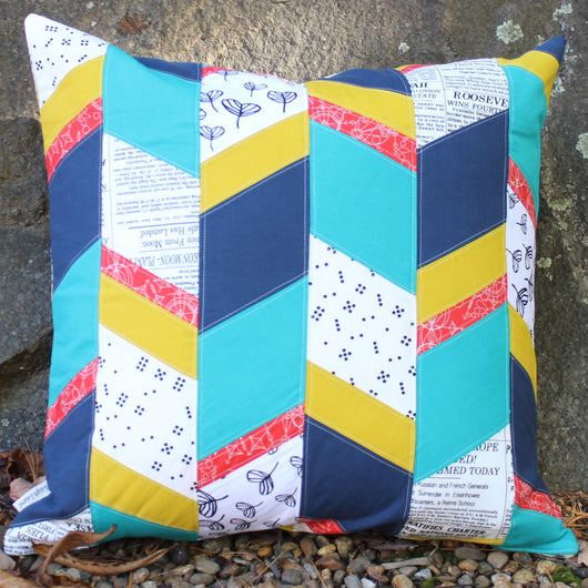 Sliced Diamonds Pillow PDF Pattern