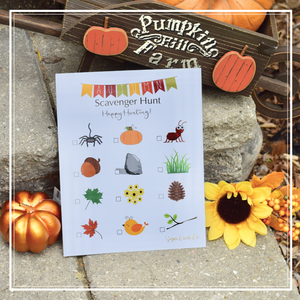 Free thanksgiving scavenger hunt for toddlers