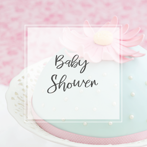 Baby Shower cake image with blue and pink cake
