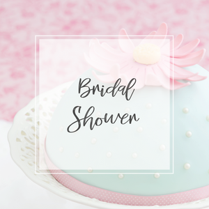 Bridal Shower collection over cake