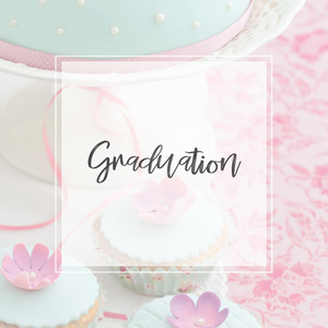 graduation collection and cupcakes with cake