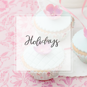 Holidays collection cupcake background