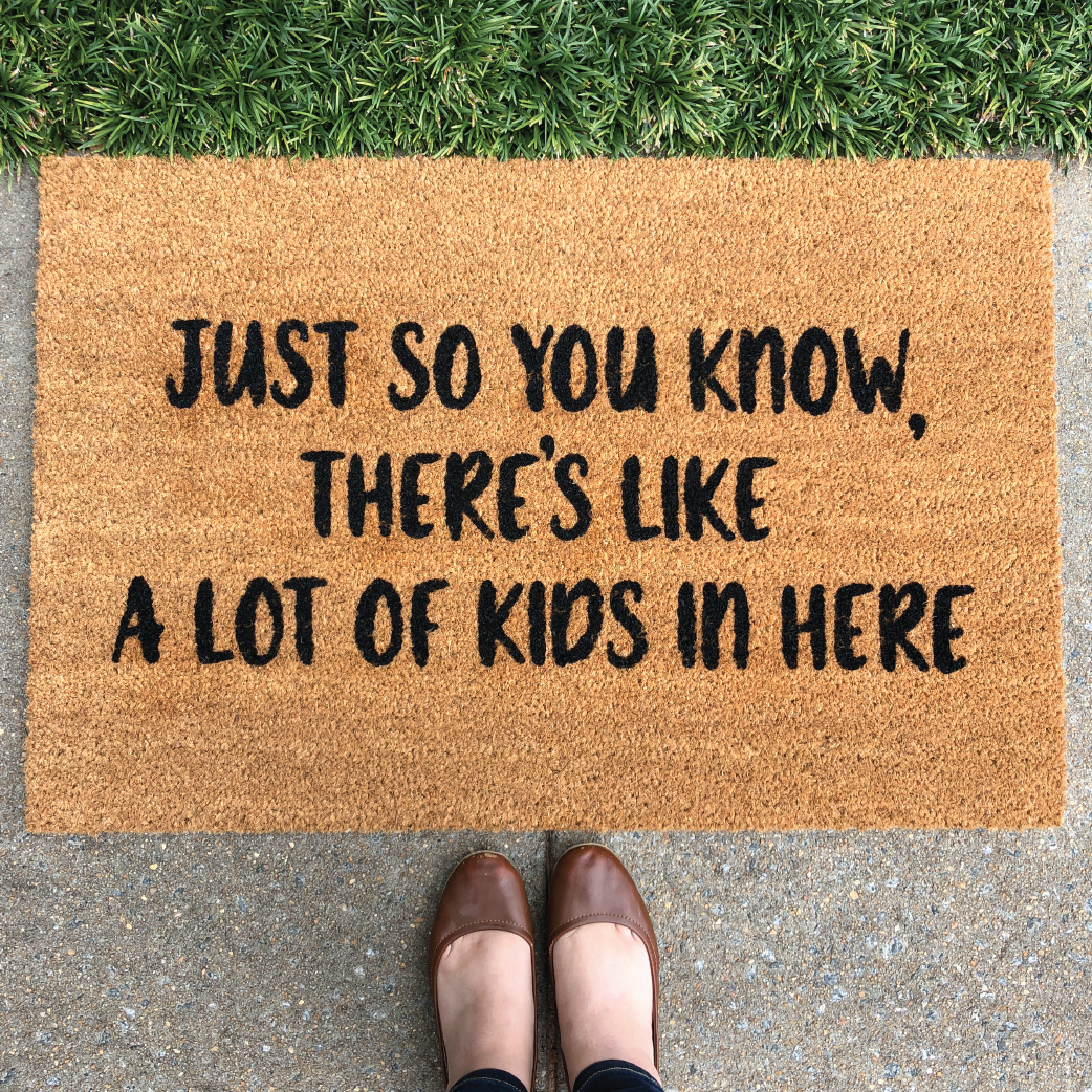 funny doormat for mom