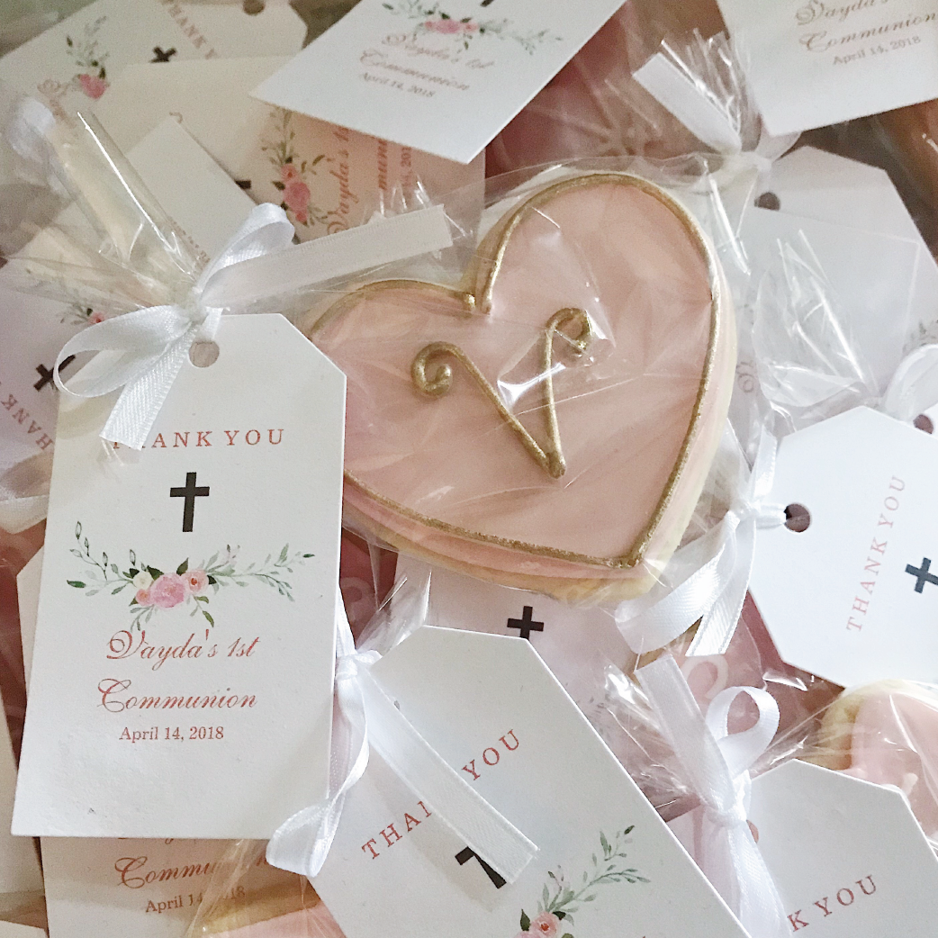 Sugar cookies for communion favour