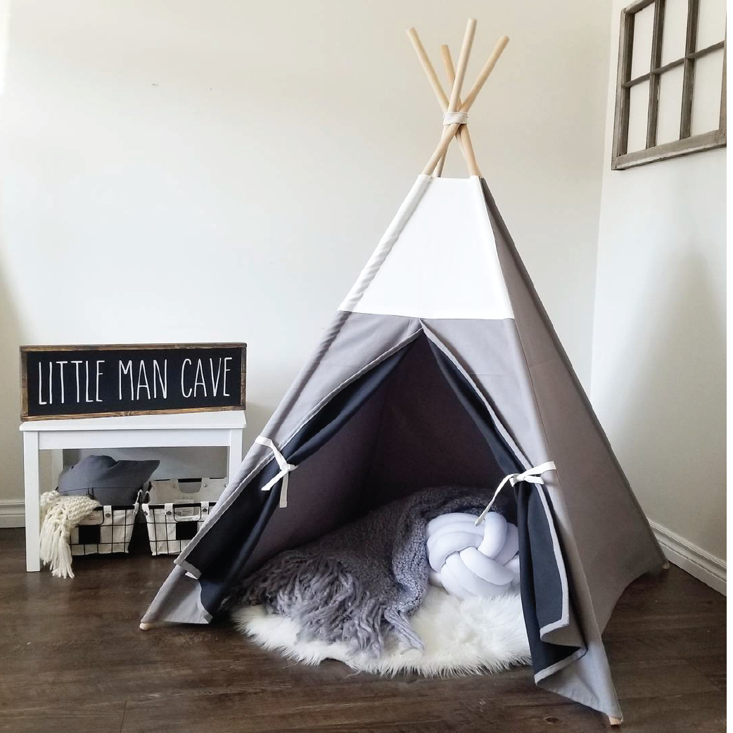Tee pee tent little man cave