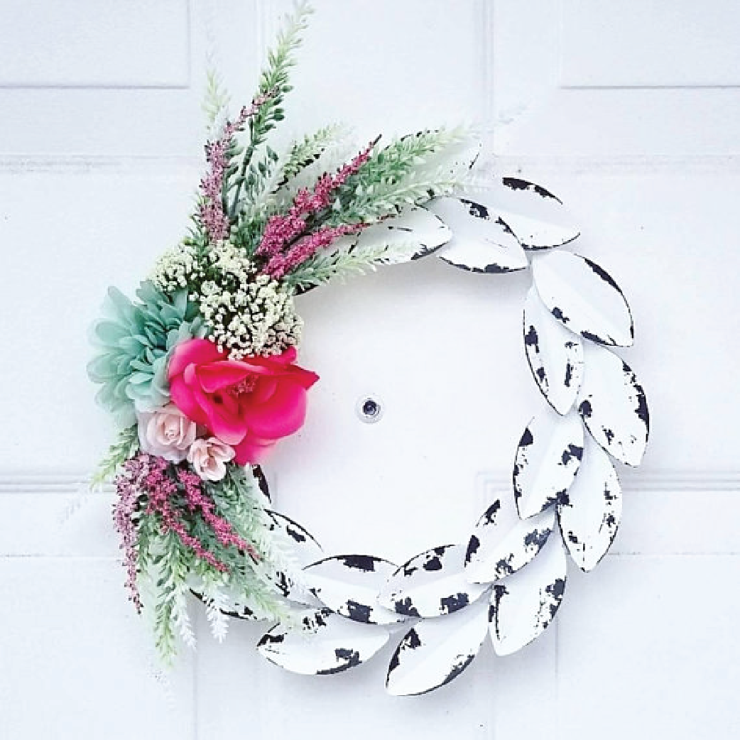 floral wreath for front door
