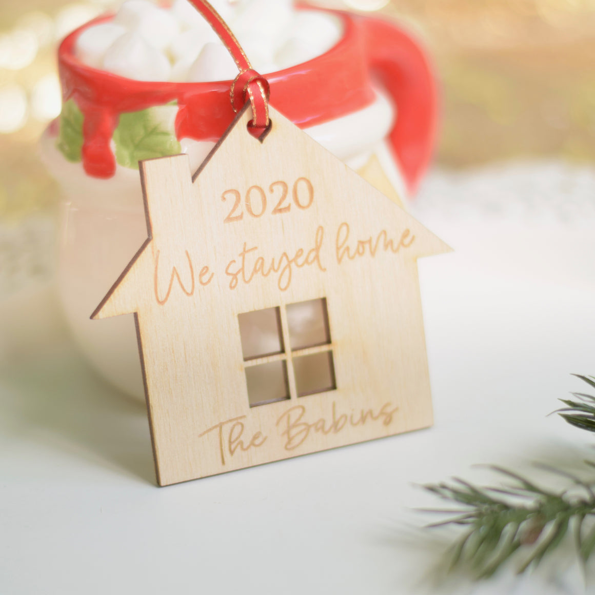 2020 We Stayed Home Personalized Christmas Ornament