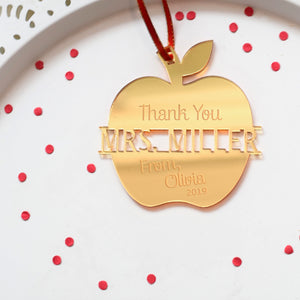 Personalized Christmas Ornament for Teacher Gift