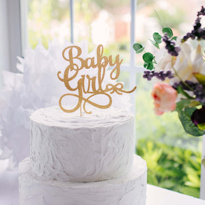 Gold Baby Girl Cake Topper