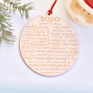 2020 Pandemic Christmas Ornament for Quarantine Christmas