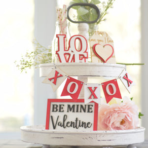 DIY Paint Kit for Valentines Day, Tiered Tray Decor