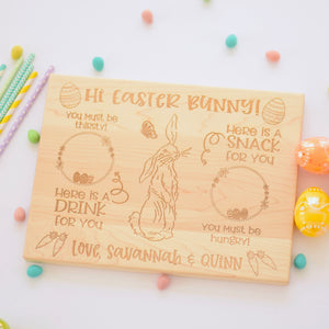 Easter Bunny Tray, Personalized Engraved Easter Board