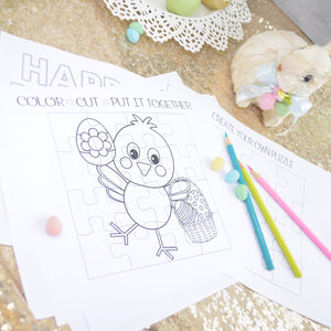 Personalized Easter Coloring Pages, Easter Activity Sheets