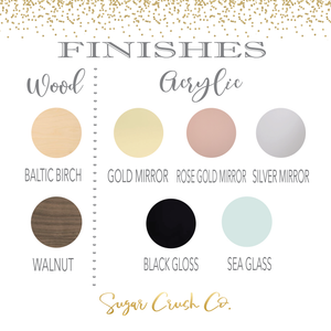 Available Finishes for acyrlic