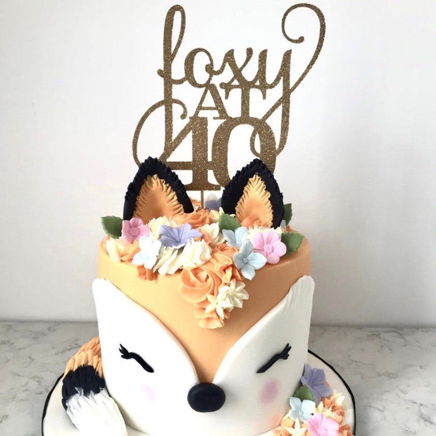 Foxy and 40 Birthday Cake Topper