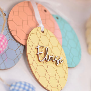 Yellow Easter Basket Tag