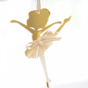 Gold Ballerina Christmas Tree Ornament