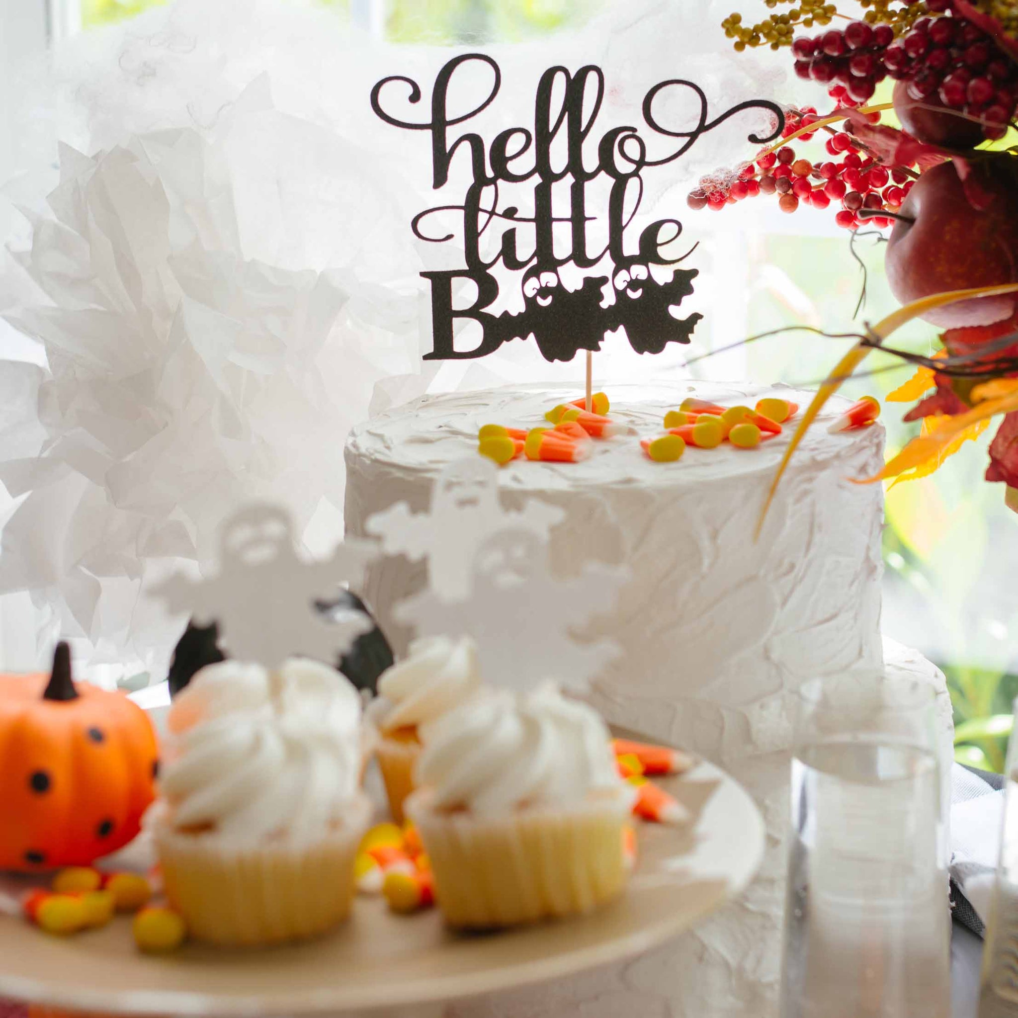 Hello Little Boo Halloween Baby Shower Cake Topper Sugar Crush Co