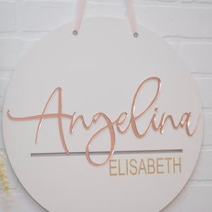custom name sign for nursery