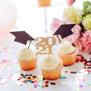cupcake toppers for graduation class of 2021