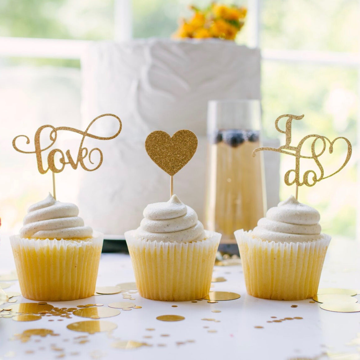 Love heart and I do cupcake toppers