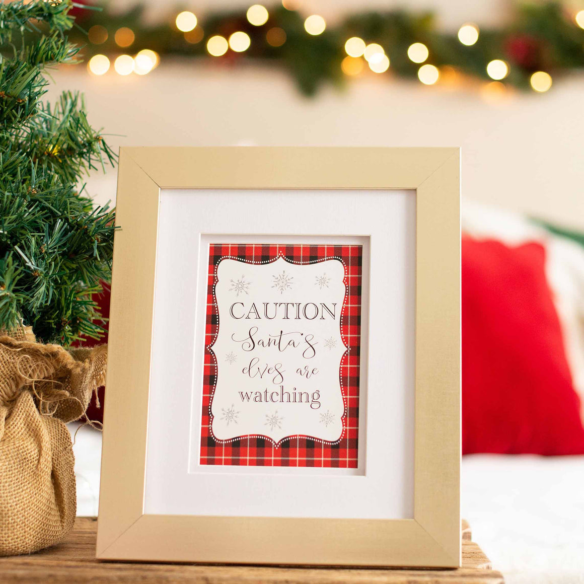 Santa is Watching You Sign - Printable Sign for Christmas Eve