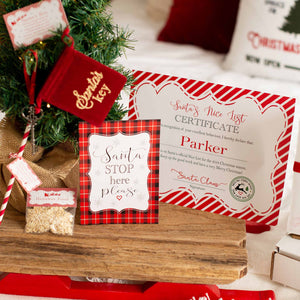 Christmas Eve box with Santa's magic key nice list certificate and reindeer food